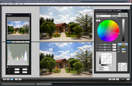 Interface de Picture Style Editor