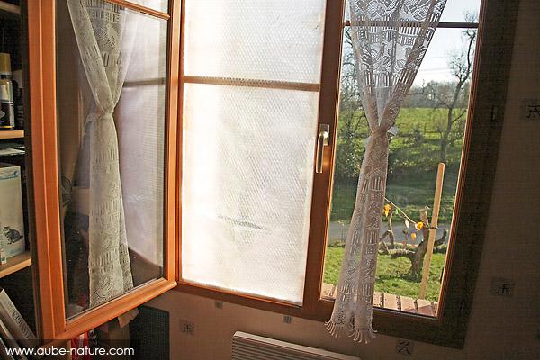 Vue de l'intérieur, fenêtre fermée